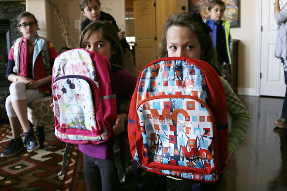 Students' with Bulletproof Backpacks