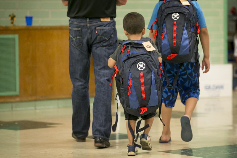 Students Wearing Bulletproof Backpacks